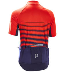 MAILLOT MANCHES COURTES VELO ROUTE TPS CHAUD TRIBAN RC100 LIGNE ROUGE