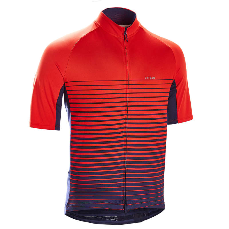 MEN WARM WEATHER ROAD CYCLING APPAREL Cycling - Cycling Jersey RC100 - Red TRIBAN - Cycling