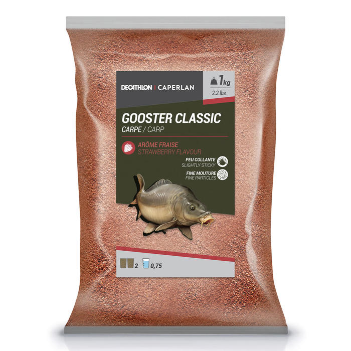 AMORCE GOOSTER CLASSIC CARPE FRAISE ROUGE 1kg