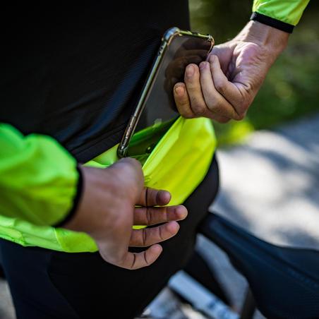 Coupe-vent de vélo de route ultra-léger jaune – Hommes