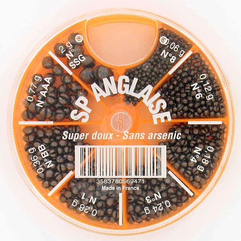 Schrotbleie und Zubehör Stippangeln Angeln - Spaltbleibox mit 8 Fächern CAPERLAN - Futter, Köder und Zubehör