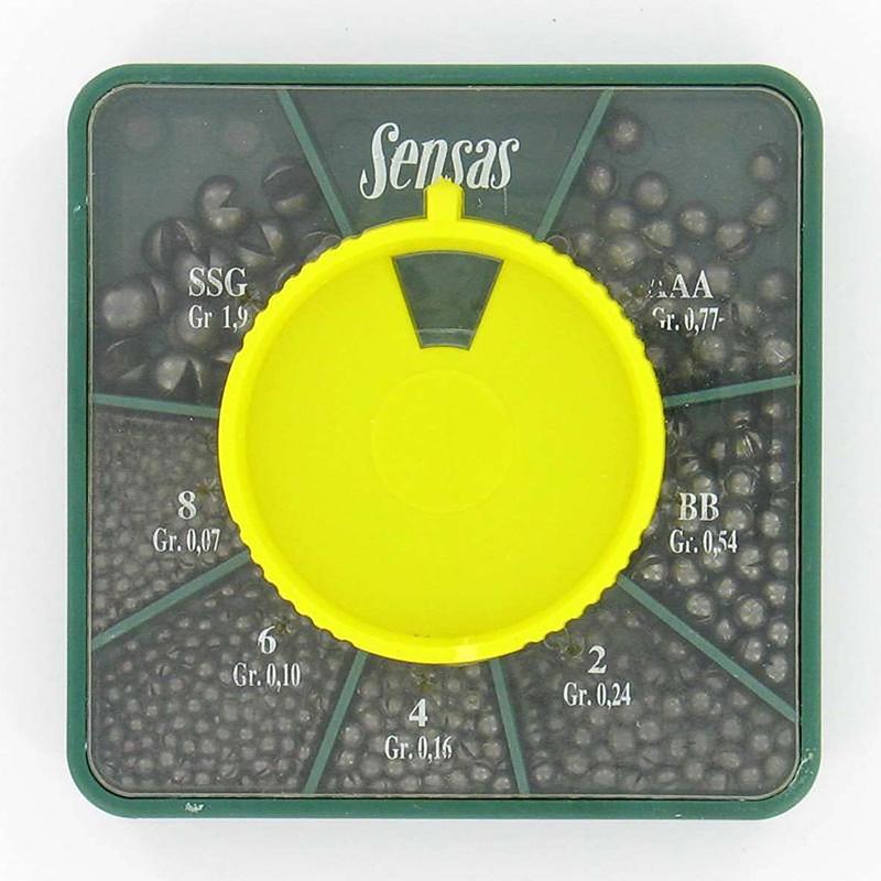 SENSAS GB DISPENSER BOX STILL/GB/QUIVER/BOLOGNESE FISHING BALLASTS