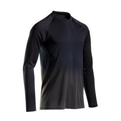 Ademend hardloopshirt met lange mouwen voor heren Kiprun Care zwart/grijs