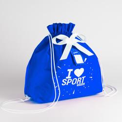 Saco de embrulho premium azul