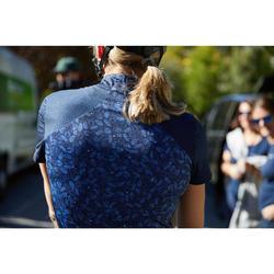 Wielershirt RC500 met korte mouwen voor dames blauw/liberty