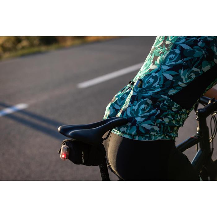 Fietsshirt met korte mouwen voor dames 500 Floral groen