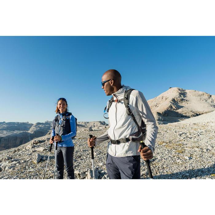 Men's Warm Jacket For Fast Hiking FH 900 Hybrid - Light Grey