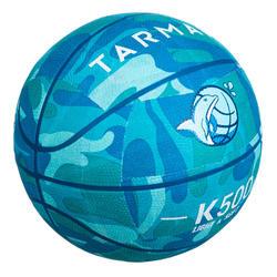 Ballon de basket K500 turquoise pour enfant basketteur débutant jusqu'a 7 ans.