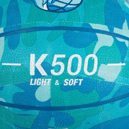 Balón básquetbol K500 turquesa para niños en iniciación hasta 7 años