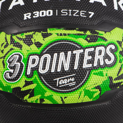 Men's Size 7 Basketball For Beginners Aged 13 And Up R300 - Green/Black