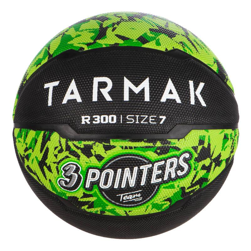 BASKETBALOVÉ MÍČE Basketbal - MÍČ R300 VEL. 7 ČERNO-ZELENÝ TARMAK - Basketbalové míče