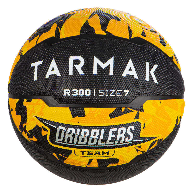 Basketbal voor jongens vanaf 13 jaar en heren R300 maat 7 geel/zwart