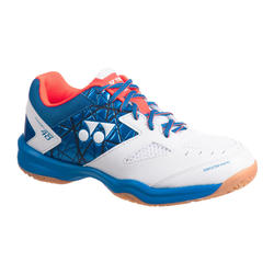 Badmintonschoen voor heren Power Cushion 48 wit/blauw