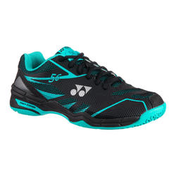 Badmintonschuhe Power Cushion 56 Herren schwarz/mint