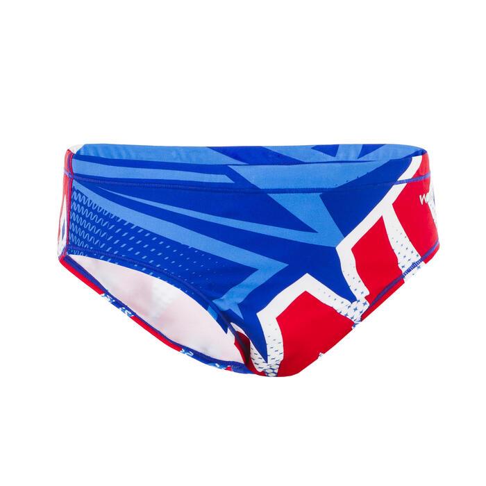 Zwemslip waterpolo jongens 500 Mcross blauw nieuw
