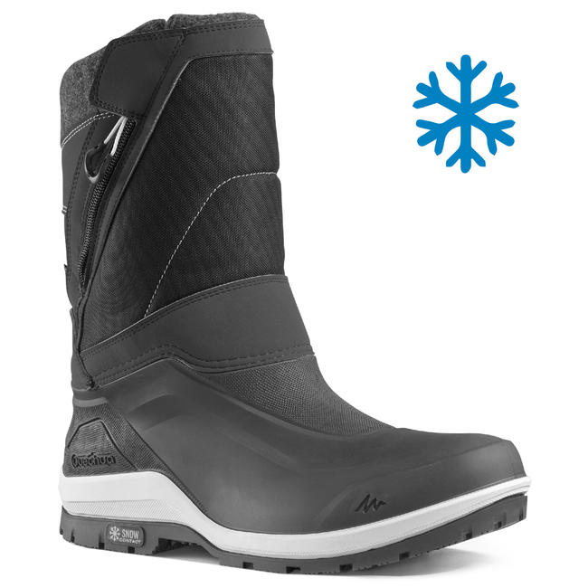 Men's Snow Hiking Boots SH500 (X-Warm) - Black