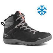Women's Snow Shoes WARM & WATERPROOF - SH100 Mid-ankle - Black