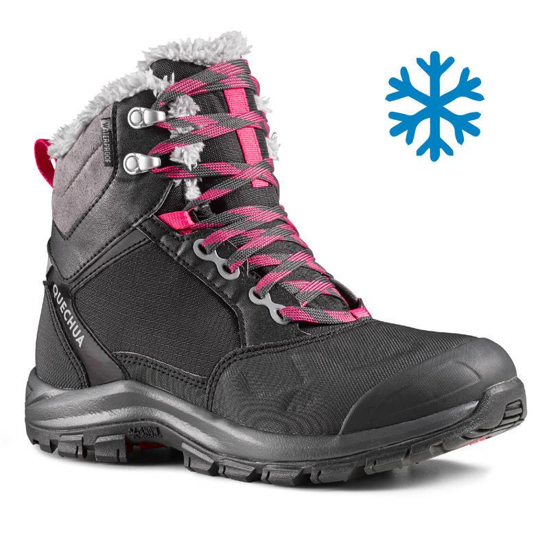 Women's Snow Hiking Shoes (Mid Ankle) SH520 X-Warm - Black