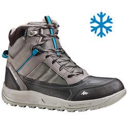Men's Warm Mid Snow Hiking Shoes SH120 - Grey.