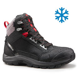 Men's Snow Hiking Shoes (Mid Ankle) SH520 X-warm - Black