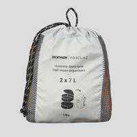 Paquete de 2 fundas de guardado de trekking - Media luna - 2 x 7 L