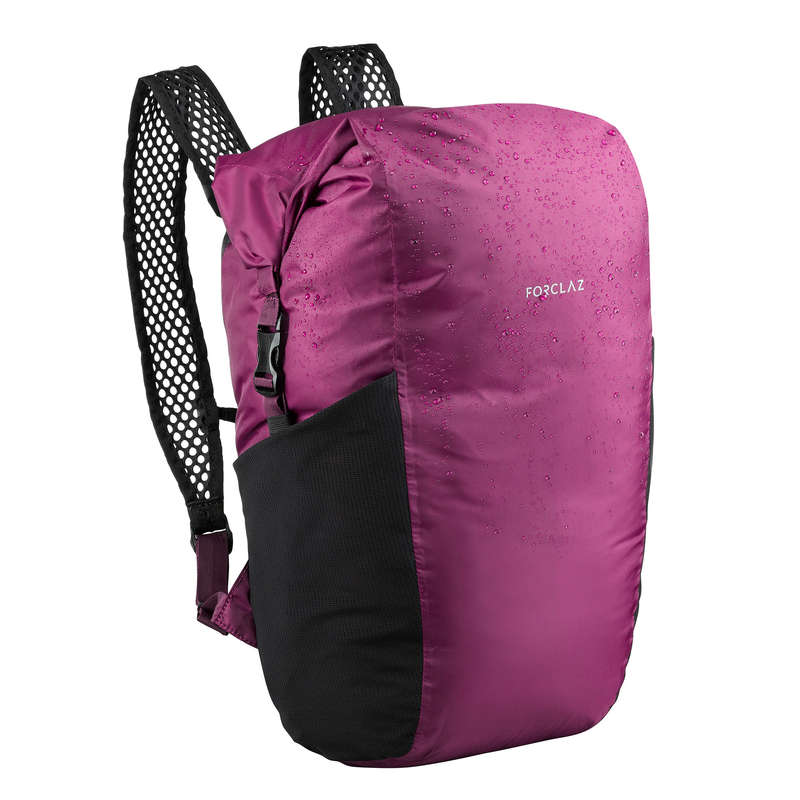 COMPACT BACKPACKS TRAVEL ACC TRAVEL TREK Hiking - COMPACT WP 20 L BP-TRAVEL-PURP FORCLAZ - Hiking Backpacks and Bags