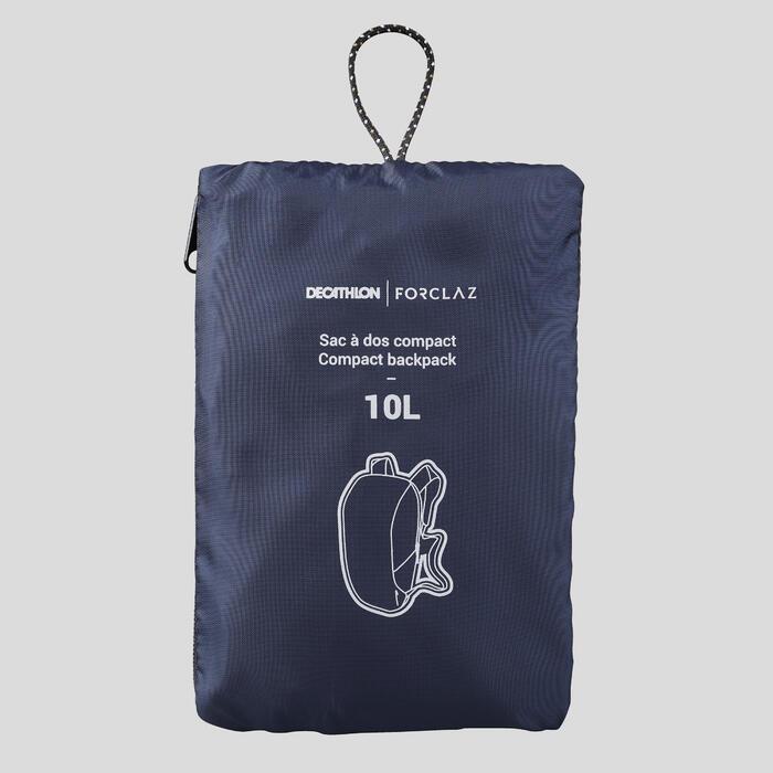 Sac à dos compact 10 litres trek voyage - TRAVEL 100 bleu marine
