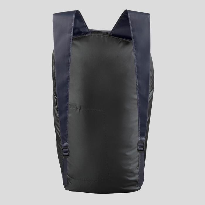 Compacte rugzak voor backpacken 10 liter Travel 100 marineblauw
