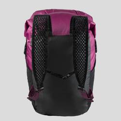 Sac à dos compact et impérméable 20 litres trek voyage | TRAVEL 100 violet