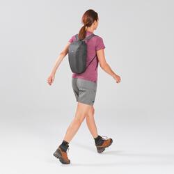 Compacte rugzak voor backpacken 10 liter Travel 100 zwart
