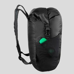 Sac à dos compact et impérméable 20 litres trek voyage | TRAVEL 100 noir