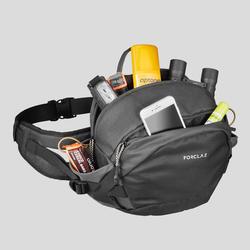 Heuptasje voor backpacking Travel 10 liter grijs/bruin