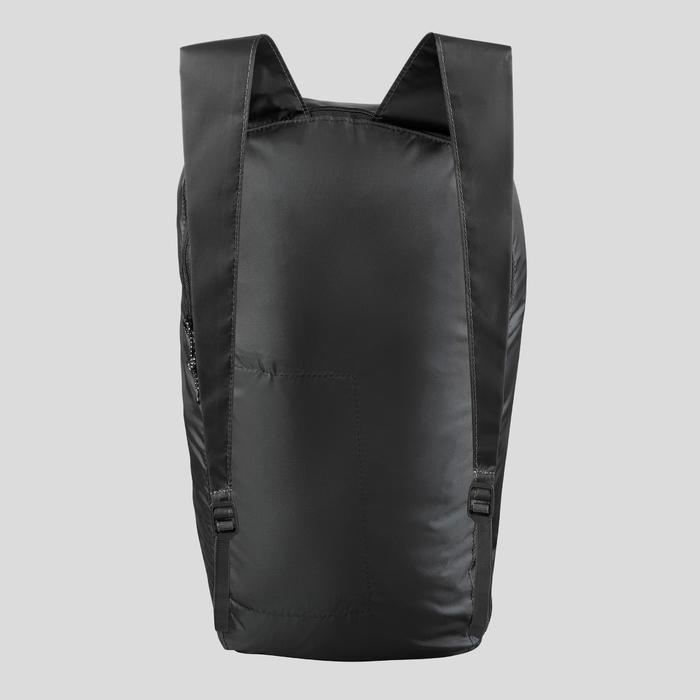 Sac à dos compact 10 litres trek voyage - TRAVEL 100 noir