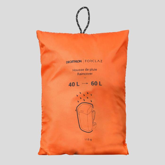 Funda Para Mochila Montaña Y Trekking Forclaz Impermeable 40 A 60 Litros Naranja