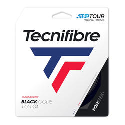 CORDAJE DE TENIS MONOFILAMENTO BLACK CODE 1,24 mm NEGRO
