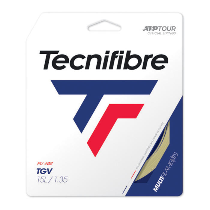 CORDAGE DE TENNIS MULTIFILAMENTS TGV 1.35mm NATUREL