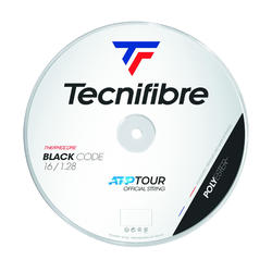 BOBINE DE CORDAGE TENNIS TECNIFIBRE BLACK CODE NOIR 1,28MM 200M