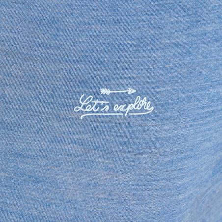 Travel 100 Trekking Merino Wool T-Shirt Blue - Women's