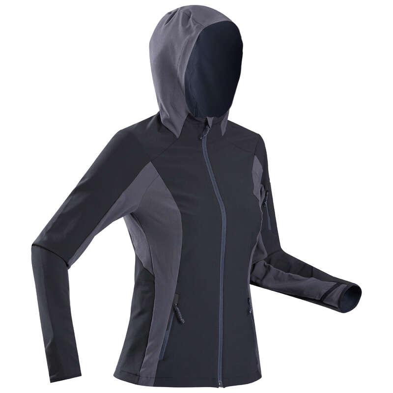 ABBIGLIAMENTO TREKKING DONNA Sport di Montagna - Softshell donna TREK 900 WIND nero FORCLAZ - Trekking donna