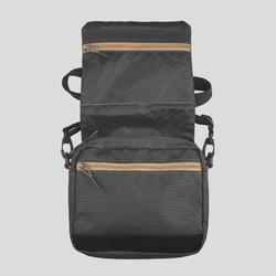Handtas met veel zakken voor backpacken TRAVEL bruin