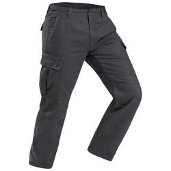 Travel 100 Men's Warm Trekking Trousers - Grey