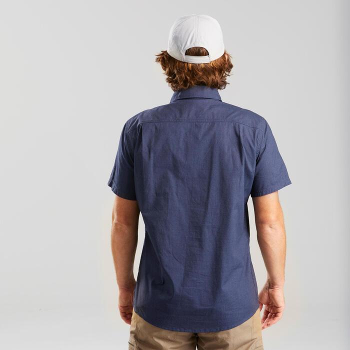 Chemise manches courtes TRAVEL50 homme bleu