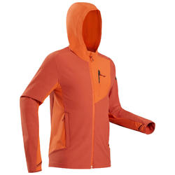 Softshell coupe-vent de trek montagne - TREK 900 WIND orange homme