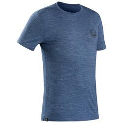 Merino Shirt Backpacking Travel 100 Herren blau