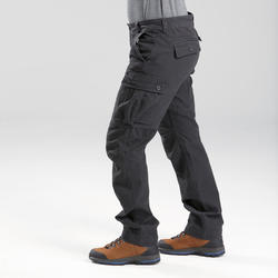 Pantalon trekking TRAVEL100 warm homme gris