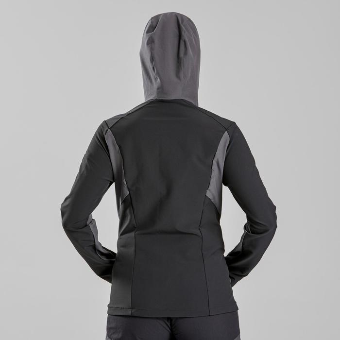 Coupe-vent trekking montagne TREK900 femme noir