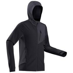 男款登山健行軟殼防風外套-TREK 900 WIND-黑色