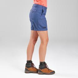 Short voor backpacken dames Travel 100 blauw
