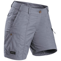 Short voor backpacken dames Travel 100 grijs
