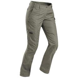 Pantalon trekking TRAVEL100 femme kaki